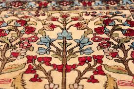 antique souf silk kashan persian rug 49615 plant nazmiyal