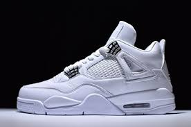 jordan 4 retro. pure money air jordan 4 retro white metallic silver-pure platinum 2017