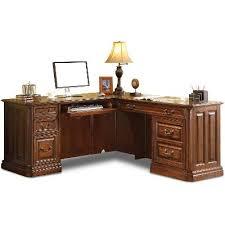 corner furniture piece. two piece corner wood desk breckenridge furniture