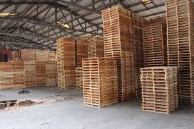 pallet storage area