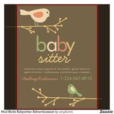 cute babysitting flyers mod birds babysitter cute babysitting flyers