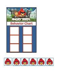 Angry Birds Behavior Chart Behavior Chart Angry Birds