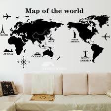 neoteric wall art world map sticker photo frame towel animal p v c self adhesive market canva globe of warcraft metal