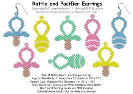 Rattle And Pacifier Earrings Sova Enterprises