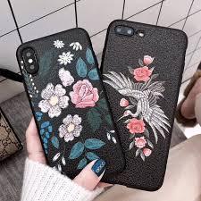 Mobile Cover Designs Handmade 3d Luxury Handmade Embroidery Bird Flowers Cartoon Phone Case For Iphone7 6 6 S Plus 8 8plus Back Cover For Iphone X10 Case