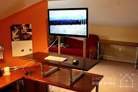 diy standing desk conversion. Beautiful Desk DIY Standing Desk Converter Throughout Diy Conversion Simplified Building