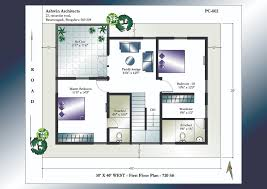X House Plans   X West Facing House Plans X West Facing House Plans   First Floor