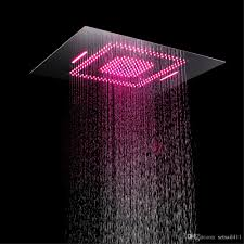 2019 Rainfall Shower Heads Led Light Remote Control Shower Head 600800mm Ceiling Rain Shower Waterfall Massage Bathroom Showerheads From Setsail411