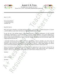 Math Teacher Cover Letter Sample Teacher Resume Cover Letter Free