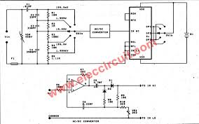 digital multimeter circuit using icl7107 the ac voltmeter circuit