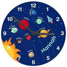 children s personalised clock space