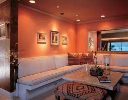 Living Room Lights Photo Of Spacious Light Living Room With Neat Leather Furniture