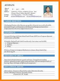 Best Resume Format 9 10 Cv Format On Word Aikenexplorer Com