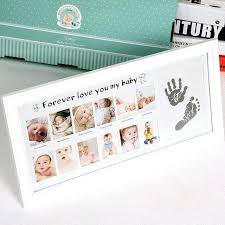 first 12 month picture frame 1 months newborn baby growth photo footprint non toxic kids 12 month picture frame baby