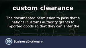 definitive meaning. what is custom clearance? definition and meaning - businessdictionary.com definitive