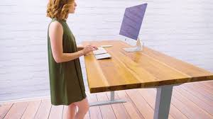 reclaimed teak solid wood desktop from uplift desk