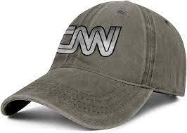 Amazon.com: CNN-Cable-News-Network-Vintage-Old- Hat Brown Denim Cool Hats  for Men Gym Hats for Men: Clothing