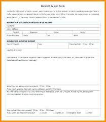 General Contractor Forms Templates Elegant Incident Report Form