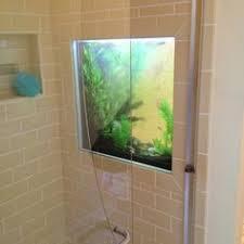 fish tank shower
