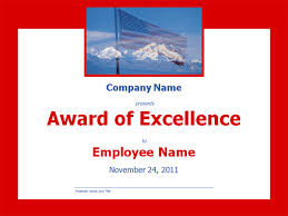 Award Of Excellence Certificate Template Excellence Award With Mountains Template 75