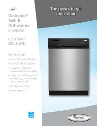 Whirlpool Dishwasher Quiet Partner Ii Lock Light The Power To Get More Done Whirlpool Built In Manualzz Com