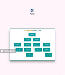 3 Generation Family Tree Template Word | Best & Professional Card ...