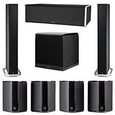 definitive surround speakers. definitive technology 7.1 system with 2 bp9060 tower speakers, 1 cs9080 center channel speaker, surround speakers