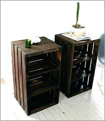 dog crate furniture diy crate end table stylish wooden crate nightstand wood crate handmade table furniture