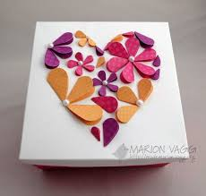 heart flower card made from hearts folded in half  on 3d paper heart wall art with made from hearts folded in half i m so doing this diy and crafts