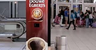 Douwe Egberts Vending Machine Beauteous Yawnactivated Machine Gives You Free Douwe Egberts Coffee
