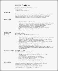 Veterinary Technician Resume Format Veterinary Resume Samples Resume