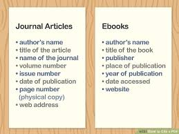 4 Ways To Cite A Pdf Wikihow