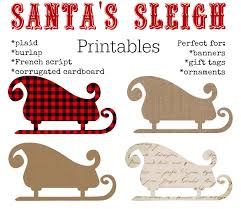 printables santa s sleigh