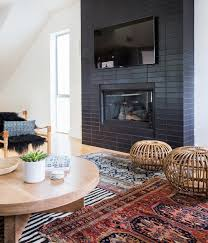 Heath tile on fireplace. Design by Amber Interiors / Photo by Tessa ...