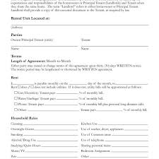 Free Printable Lease Agreement For Renting A House Free Printable Rental Lease Agreement Form Template Bagnas With