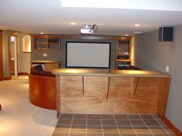 Home Basement Designs Impressive Modern Basement Remodel With Mahogany Builtins Kimberton PA