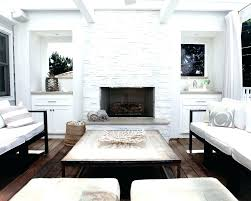 white stacked stone fireplace surround bower power ideas upton home kelley stack white stacked stone fireplace