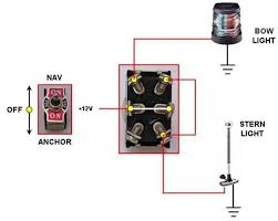 nav anchor light switch connection (with pic) page 2 the hull how to wire boat lights to switch at Boat Lighting Wiring Diagram