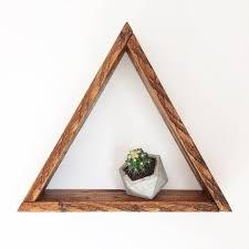 reclaimed wood triangle shelf wood triangle shelf wooden