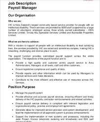 Payroll Accounting Job Description 15 Payroll Accounting Job Description Proposal Reviewpayroll