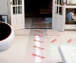 carpet protector film. carpet protector film on the floor e