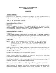 Welder Job Description For Resume Myacereporter Com