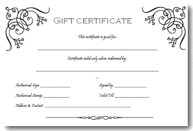 Microsoft Word Templates Gift Certificates Gift Certificate Template Microsoft Word Gift Certificate Template