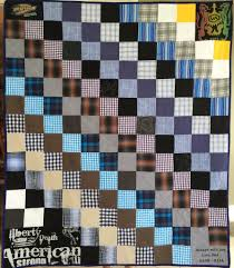 memory quilts – The Patchwork Bear & Original Memory Clothes Quilt 48x60, diagonal pattern Adamdwight.com