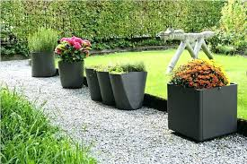 decorative outdoor pots image of large plant box and planters tall nz tal
