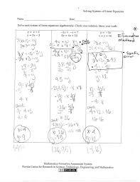 solving systems equations worksheets screenshoot solving systems equations worksheets mfas image1 portrayal great moving forward