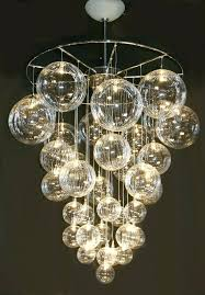 crystal ball pendant chandelier stairwell lighting modern led large bubble lights chandeliers