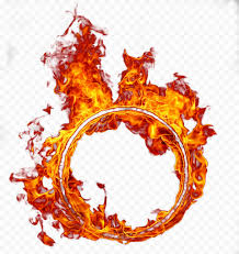 round circle surrounded fire flame