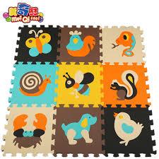 MEI QI COOL 9PCS Foam Puzzle Mat Flooring Foam Play Mats For Kids