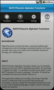 Although often called phonetic alphabets, spelling alphabets are not associated with phonetic transcription systems such as the international phonetic the 26 code words in the nato phonetic alphabet are assigned to the 26 letters of the english alphabet in alphabetical order as follows: Amazon Com Nato Phonetic Alphabet Translator Appstore For Android